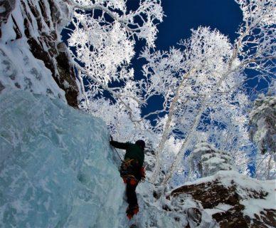 12月14日15日 八ヶ岳 アイスクライミング講習会  裏同心ルンゼ~横岳2830m登頂2日間