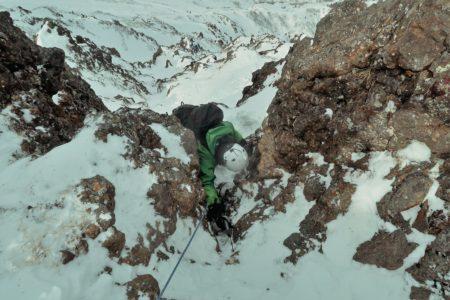 赤岳2899m西壁主稜登頂!