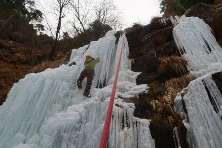 八ヶ岳 アイスクライミング講習会 裏同心ルンゼ~横岳2830m登頂!