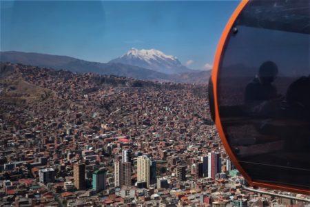 南米ボリビア アンデス イリマニ6439m ワイナポトシ6088m