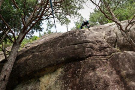 梅雨の晴れ間の岩登り講習会@小川山