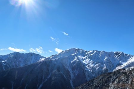 厳冬期南アルプス北岳3193m