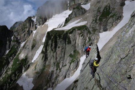 剱岳2999m八ツ峰六峰Cフェースから上半縦走