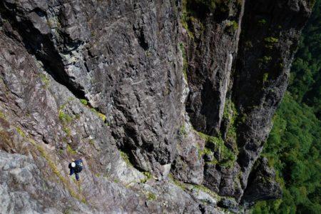 錫杖岳2168m前衛壁 左方カンテ&1ルンゼ