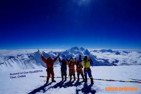 4年前の今日 チョー・オユー8201m登頂